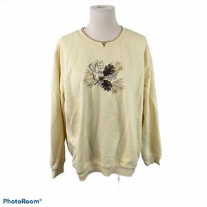 4/$30 🌿NORTHERN REFLECTIONS Beige Leaf Sweater